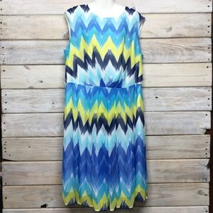 Dressbarn Chevron Dress Size 16